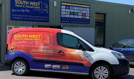 Banner Battery van wrap for South West factor