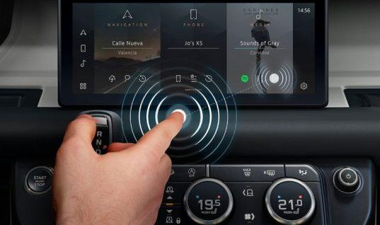Jaguar Land Rover develops 'contactless touchscreen'