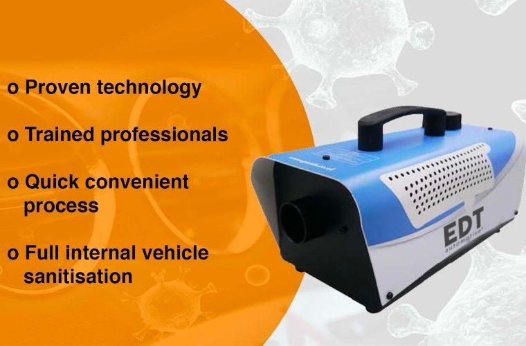 EDT Automotive adds vehicle sanitation machine to range