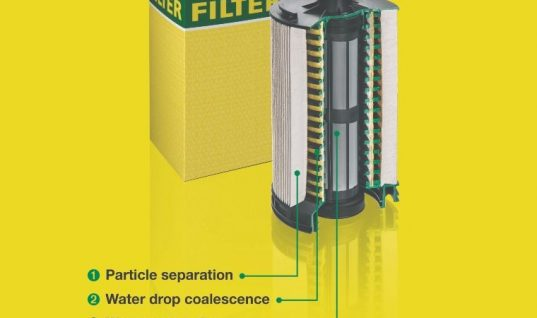 New fuel filter protects CV diesel injection systems from water and dirt