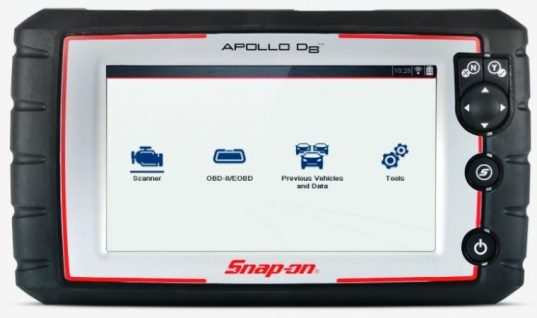 Snap-on launches new APOLLO-D8 diagnostic scan tool