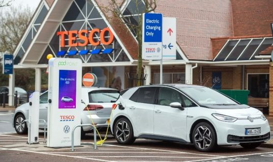 Tesco installs 200th EV charger