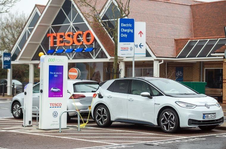 Tesco installs 200th EV charger