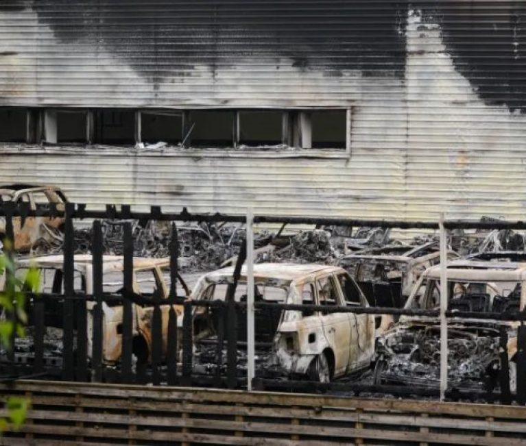 Detectives treating Jaguar Land Rover dealership blaze as arson
