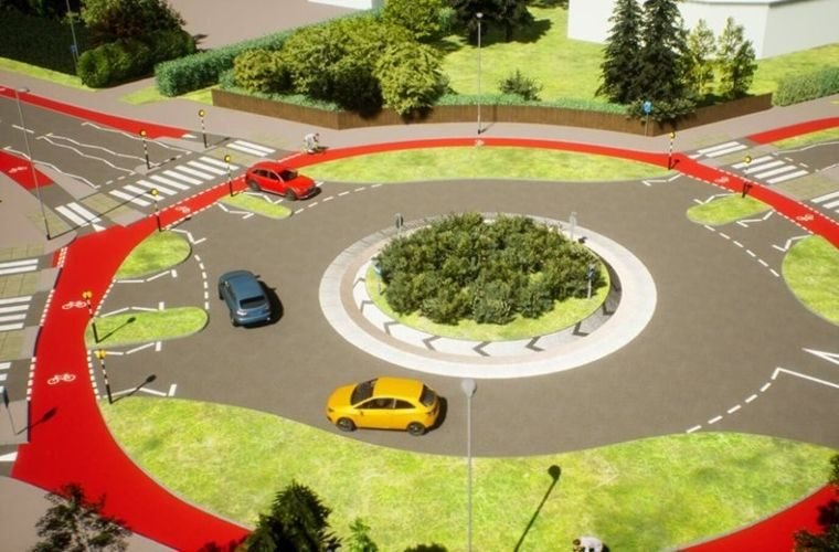 UK's first 'Dutch-style' roundabout with priority bike lane opens in Cambridge