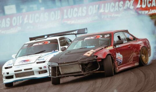 Lucas Oil driver mounts strong defence in British drift championship