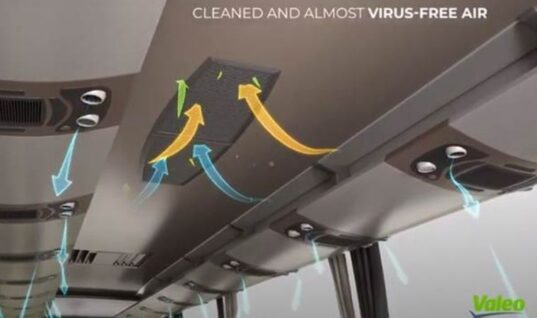 Valeo equips buses with health shield capable of eliminating 95 per cent of viruses