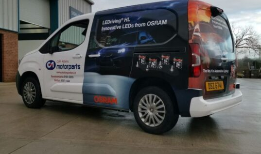 Northern Ireland factor gets van wrapped with OSRAM branding