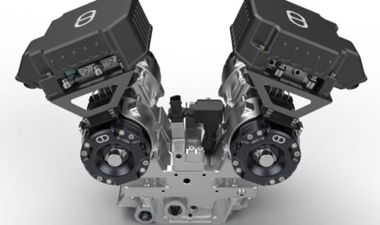 Mechanical camshaft replaced with electric actuators in new engine concept