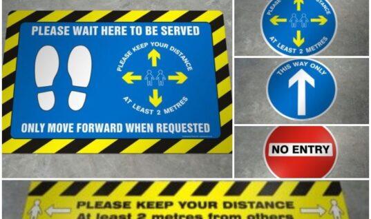 Save 40 per cent on coronavirus awareness floor stickers