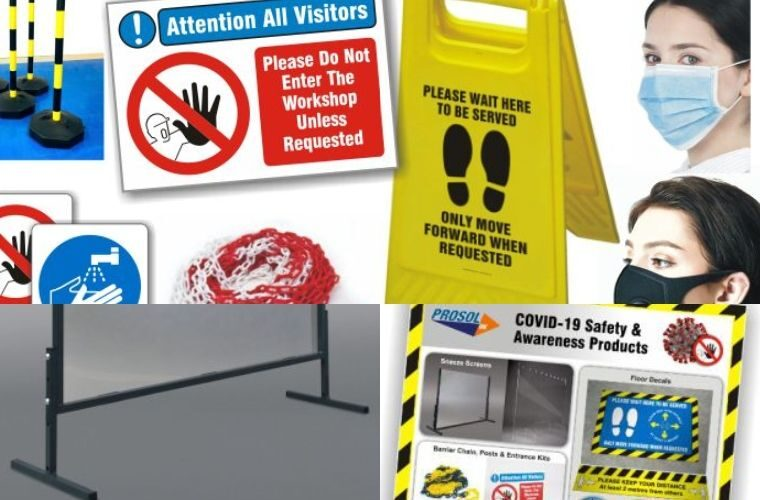 COVID-19 safety and awareness equipment from Prosol