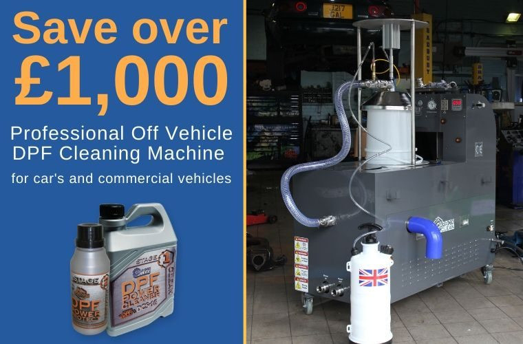 Save over £1,000 Carbon Clean's DPF cleaning machine