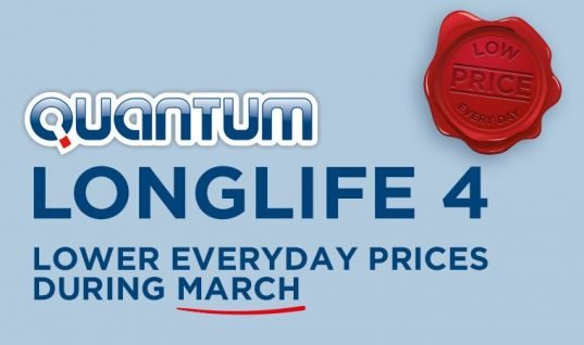 Quantum Longlife 4 savings throughout March at TPS