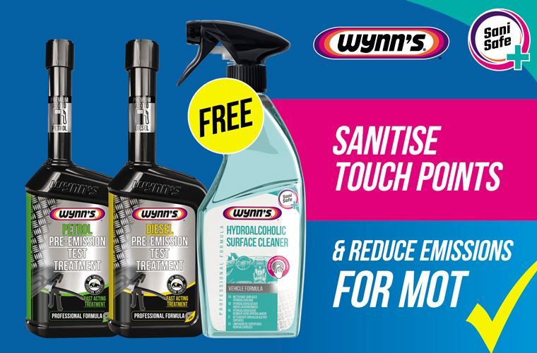 Free touch point sanitiser with Wynn's emission reducing solutions