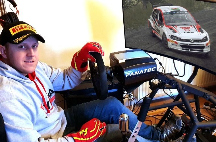 Unique E-sports competition launch for Yuasa's real-life Matt Edwards British Rally livery