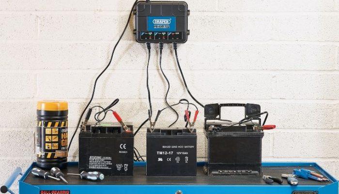 Draper releases 6V/12V three-bank charger station