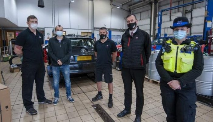 Catalytic converter SmartWater marking encouraged by Northumbria Police