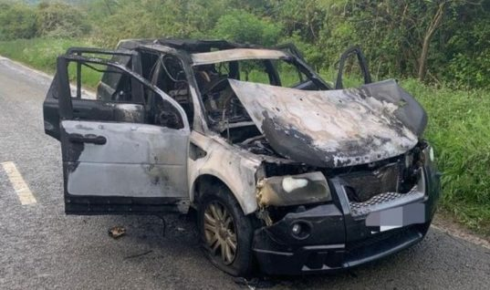 Police and fire service issue fluid level warning following car fire