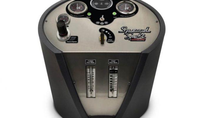 New 'Speed Smoke' leak detection machine at Hickleys