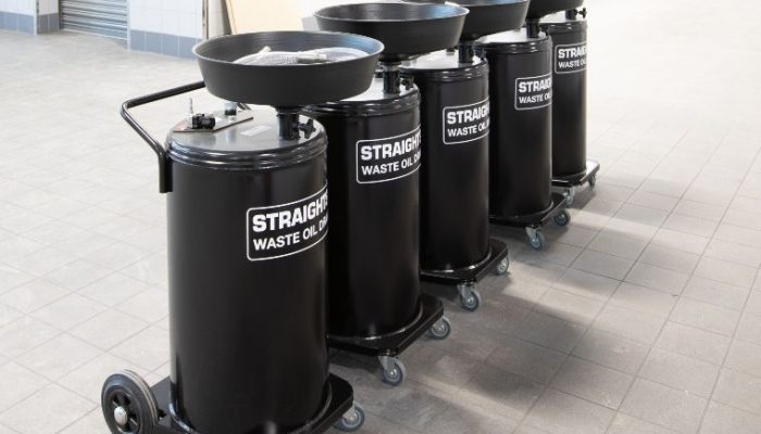 Straightset highlights waste oil drainer offering