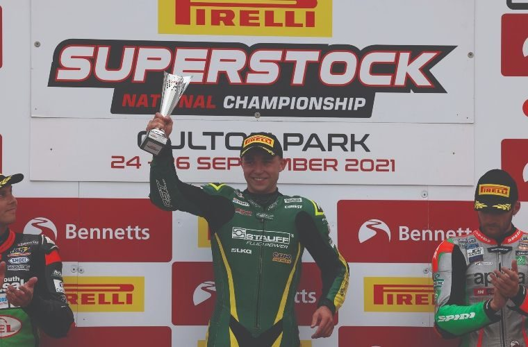 NGK-backed motorcycle ace Chrissy Rouse races to victory