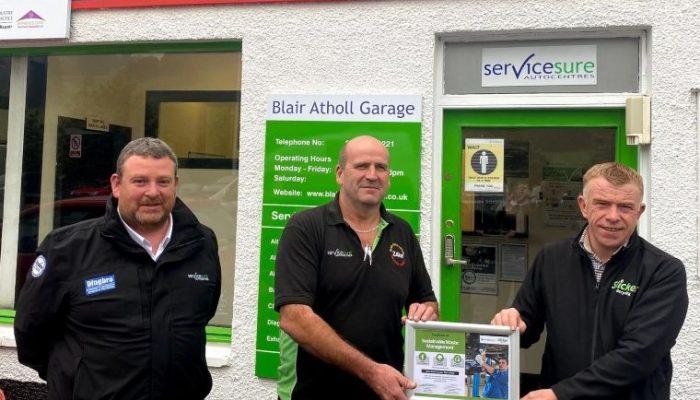 Slicker helps reduce carbon emissions for Blair Atholl Garage