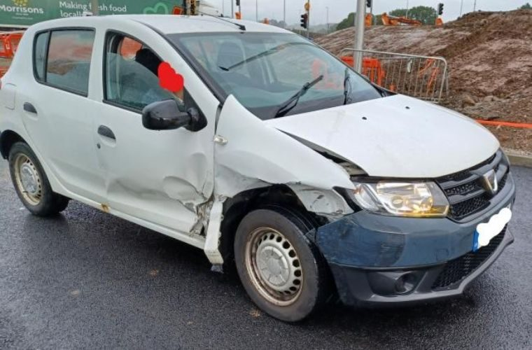 Police stop battered Dacia seen travelling on M6