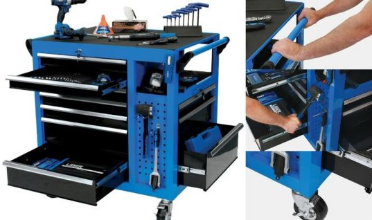 New range of Laser Tools Racing tool chests and roll cabinets