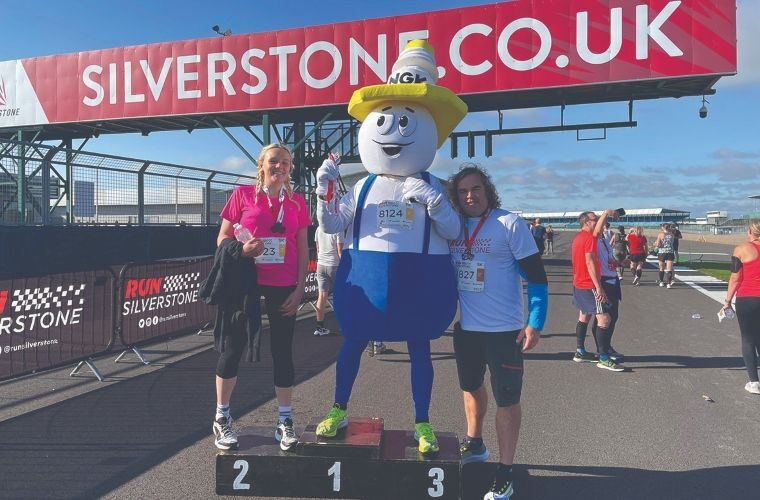 NGK's 'Mr Sparky' takes part in Run Silverstone